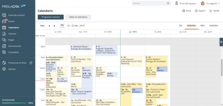 Calendario de citas